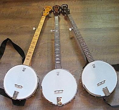 Three Backless Goodtime banjos.